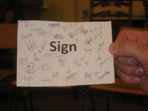 We signed the sign as a sign of unity