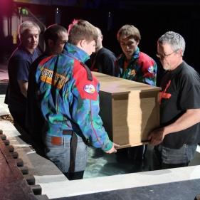 Burying the coffin