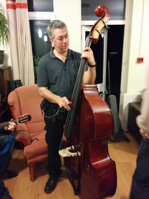 Mark with his double bass